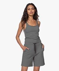 Filippa K Soft Sport Rib Cropped Tank Top - Green Grey