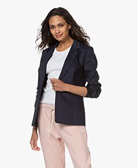 Drykorn Blazer Golders in Cotton-stretch - Dark Navy