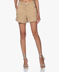 Vanessa Bruno Nixia Stretch-cotton Shorts - Mastic