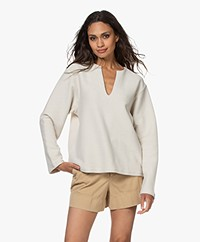 Filippa K Soft Sport Reversed Split Sweatshirt - Ivory