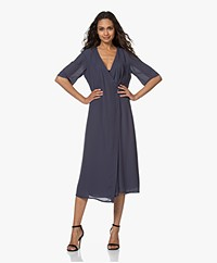 Filippa K Amalia Wrap Dress - Ink Blue