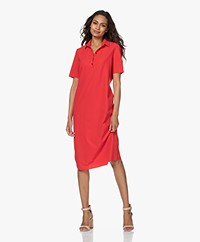 JapanTKY Phyn Travel Jersey Polo Dress - Japanese Red