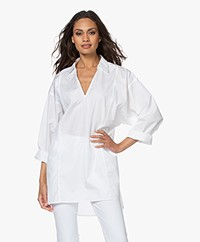 Filippa K Soft Sport Cotton Beach Tuniekblouse  - Wit