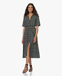 Kyra & Ko Sirine Printed Viscose Shirt Dress - Black