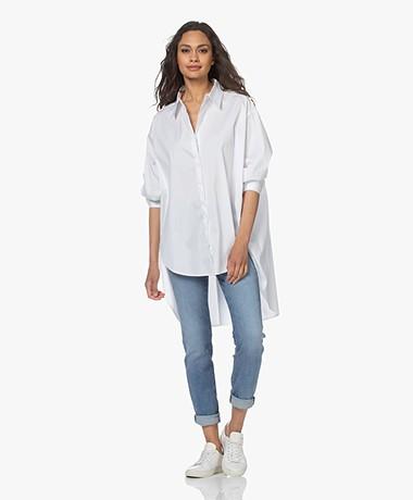 Woman by Earn Miep Stretch Poplin Overhemd - Wit