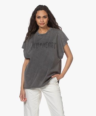 IRO Wilde Washed Print T-shirt - Dark Grey