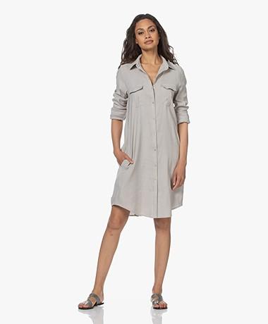 Woman by Earn Teun Linen Blend Shirt Dress - Sand