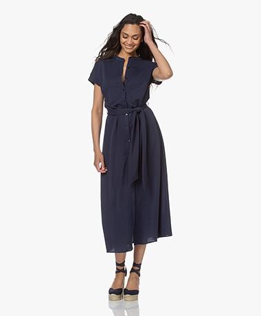 Plein Publique La Calme Button-through Dress - Dark Blue
