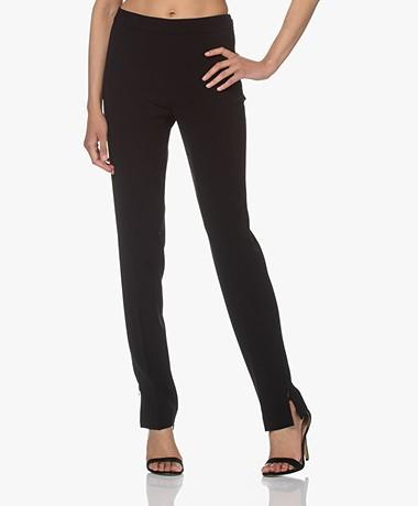 Filippa K Cindy Pants with Side Slit - Black