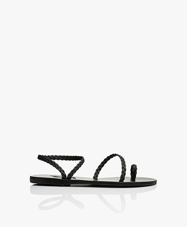 Ancient Greek Sandals Eleftheria Braided Sandals - Black