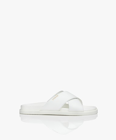 Copenhagen Studios Leather Slippers - White