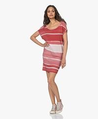 Majestic Filatures Viscose Blend Tie-dye T-shirt Dress - Blush