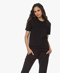 Bassike Heritage Bio Katoenen T-shirt - Zwart