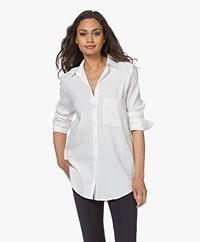 Woman by Earn Froukje Linnenmix Overhemd - Off-white