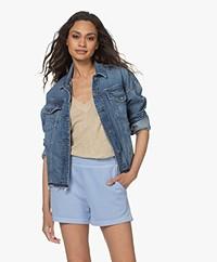 Denham Cape BCI-cotton Denim Jacket - Blue