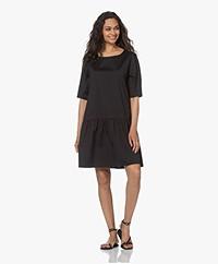 Woman by Earn Pep Stretch Poplin Dress - Black