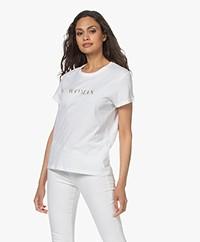 Zadig & Voltaire Zoe Citation Woman T-shirt - Wit