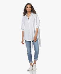 Woman by Earn Miep Paper Cotton Shirt - White
