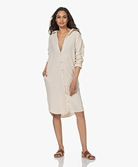 by-bar Doppia Cotton Muslin Shirt Dress - Sand