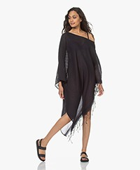 SU Paris Syama Cotton Gauze Kaftan - Black