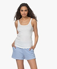 Closed Organic Cotton Rib Tank Top - Ivory