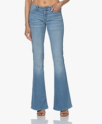 Denham Farrah Super Flare Fit Jeans - Lichtblauw
