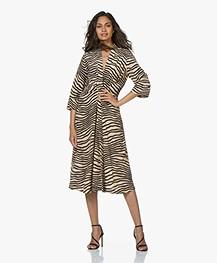 By Malene Birger Keelia Zebra Print Dress - Dry Desert