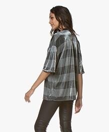 IRO Darby Oversized Lurex T-shirt - Grijs