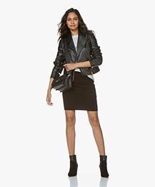 Drykorn Ceylon Leather Biker Jacket - Black