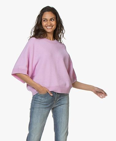 Closed Oversized Wolmix Trui - Pink Blush