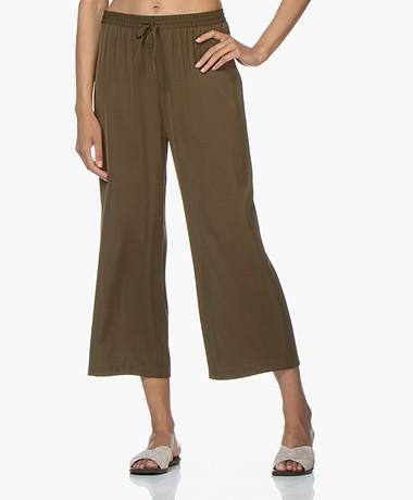 Filippa K Silk Pants - Hike Green