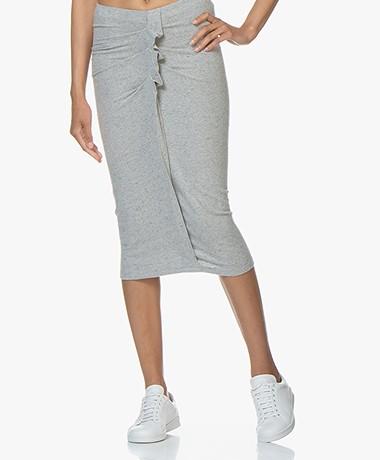IRO Wilber Jersey Midi Skirt - Grey Melange