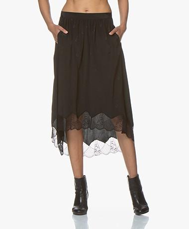 Zadig & Voltaire Joslin Silk Jacquard Guitar Skirt - Black