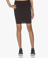 IRO Dunbar Knitted Mini Pencil Skirt - Dark Blue
