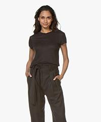 IRO Third Linen Jersey T-shirt - Black