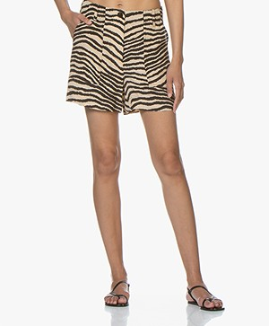 By Malene Birger Danise Zebraprint Short - Dry Desert