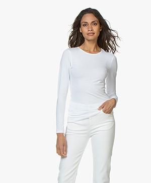 Filippa K Cotton Stretch Longsleeve - Wit