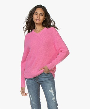 Filippa K Alpaca V-Neck Sweater - Waterlily