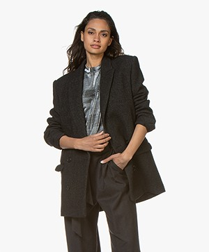 IRO Achasa Double-breasted Blazer Coat - Anthracite