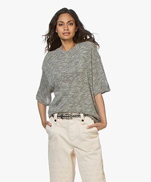 IRO Yuma Mouliné T-shirt - Grey Melange