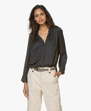 Zadig & Voltaire Tink Japanese Satin Blouse - Black