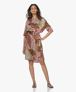 By Malene Birger Cebina Print Dress - Vintage Camel