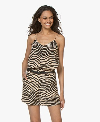 By Malene Birger Lacia Zebraprint Top - Dry Desert
