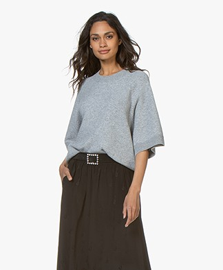 Closed Oversized Wool Blend Sweater - Grey Melange