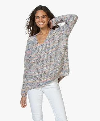 Closed Oversized Alpaca Mix Sweater - Multi Color