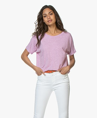 Closed Katoenmix T-shirt - Orchid