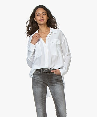 Denham Trek Crêpe Blouse - Optic White