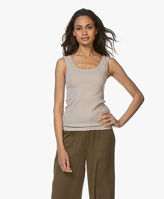 Filippa K Fine Rib Tank Top - Light Taupe