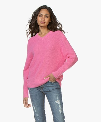 Filippa K Alpaca V-Neck Trui - Waterlily