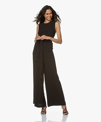 Filippa K Women Tie Waist Jumpsuit - Black